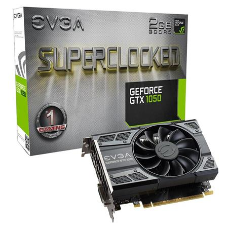 Placa de Video EVGA GTX1050 SC GAMING, 2GB GDDR5, ACX 2.0 (Single Fan)