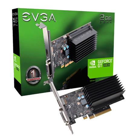 Placa de Video EVGA GEFORCE GT1030 DDR4, 2GB SDDR4, Passive, Low Profile