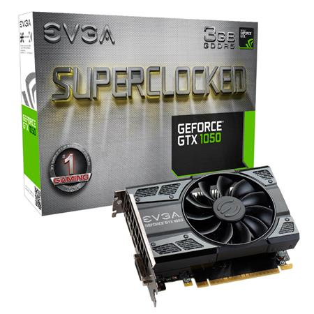 Placa de Video EVGA GTX1050 GAMING 3GB GDDR5 ACX2.0 Single Fan