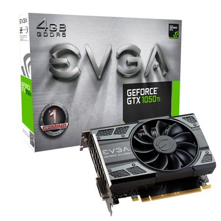 Placa de Video EVGA GTX1050 Ti GAMING, 4GB GDDR5, ACX 2.0 (Single Fan)