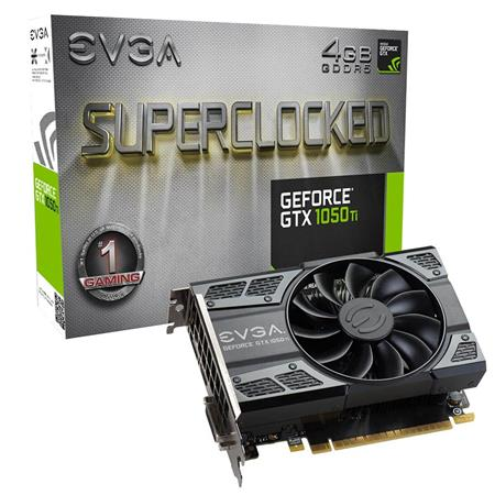 Placa de Video EVGA GTX1050 Ti SC GAMING 4GB GDDR5 Single Fan