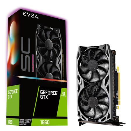 Placa de Video EVGA GeForce GTX 1660 SC ULTRA GAMING 6GB GDDR5 Dual Fan Metal Backplate
