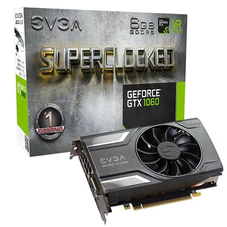 Placa de Video EVGA GeForce GTX 1060 SC GAMING, 6GB GDDR5