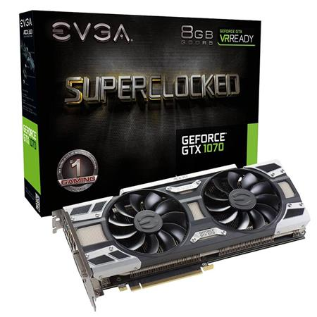 Placa de Video EVGA GTX1070 SC GAMING, 8GB GDDR5, ACX 3.0 & LED