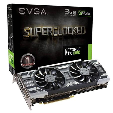 Placa de Video EVGA GTX 1080 SC GAMING, 8GB GDDR5X, ACX 3.0 & LED