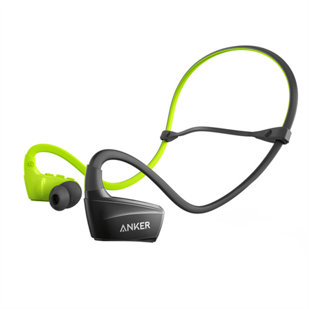 Auriculares ANKER SoundBuds Sport NB10 WM US Black + Green A3260HM1